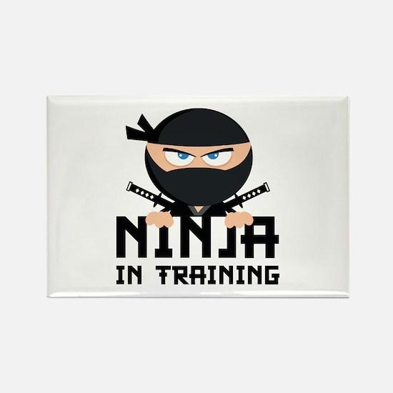 Ninja In Training Rectangle Magnet (10 pack)