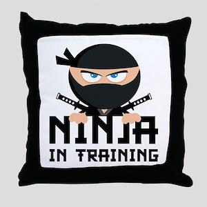 Ninja In Training Throw Pillow