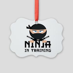 Ninja In Training Picture Ornament