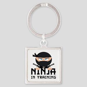Ninja In Training Square Keychain