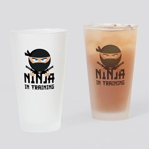 Ninja In Training Drinking Glass