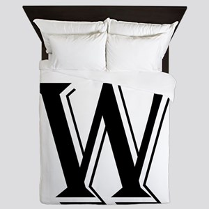 Fancy Letter W Queen Duvet
