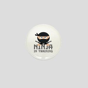 Ninja In Training Mini Button