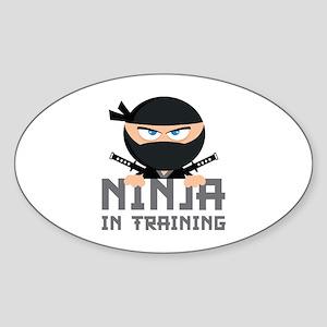 Ninja In Training Sticker (Oval)