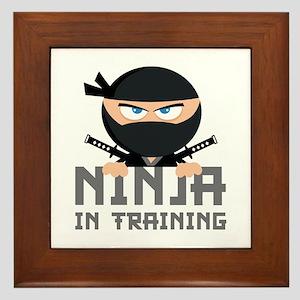 Ninja In Training Framed Tile