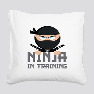 Ninja In Training Square Canvas Pillow
