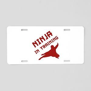 Ninja In Training Aluminum License Plate