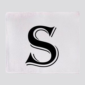 Fancy Letter S Throw Blanket