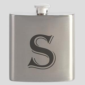 Fancy Letter S Flask