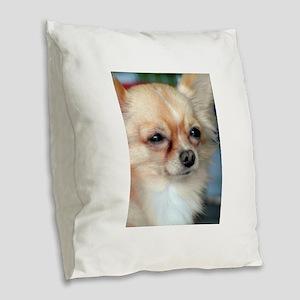 i love dog Burlap Throw Pillow
