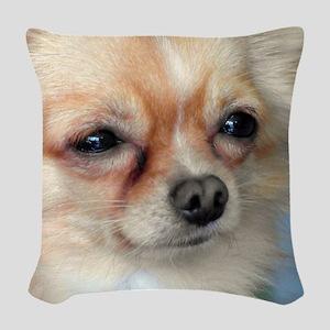 i love dog Woven Throw Pillow