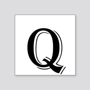 Fancy Letter Q Sticker