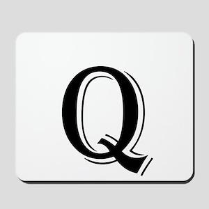 Fancy Letter Q Mousepad