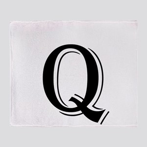 Fancy Letter Q Throw Blanket