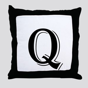 Fancy Letter Q Throw Pillow