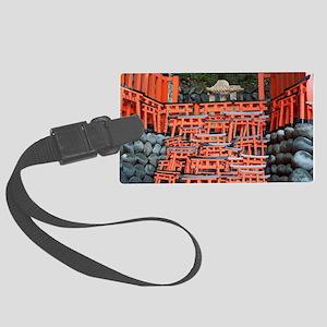 miniature votive torii gates Large Luggage Tag