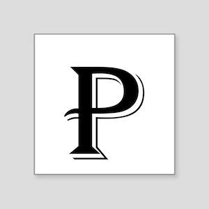 Fancy Letter P Sticker