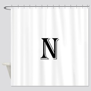N Initials Shower Curtains Cafepress