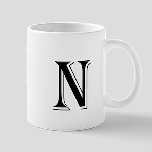 Fancy Letter N Mugs