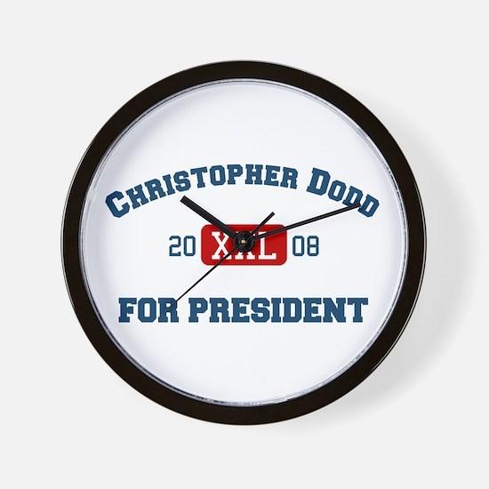 Christopher Dodd for president Wall Clock