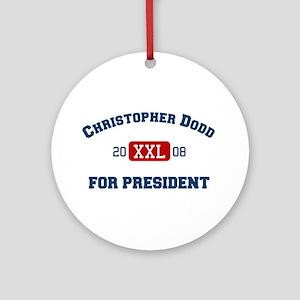 Christopher Dodd for president Ornament (Round)