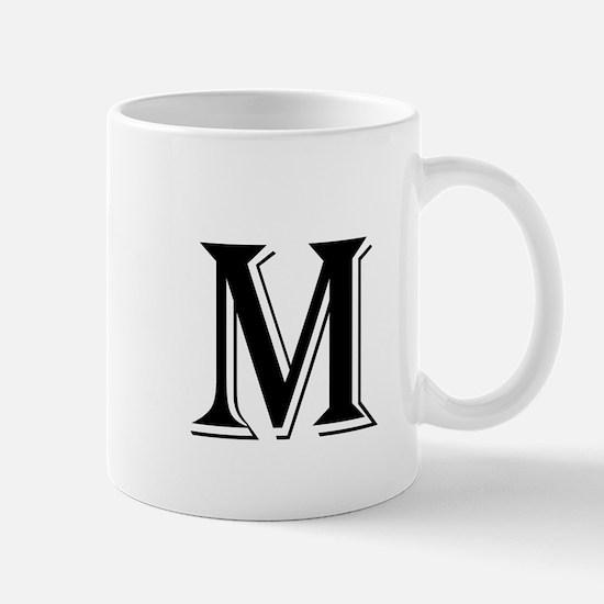 Fancy Letter M Mugs