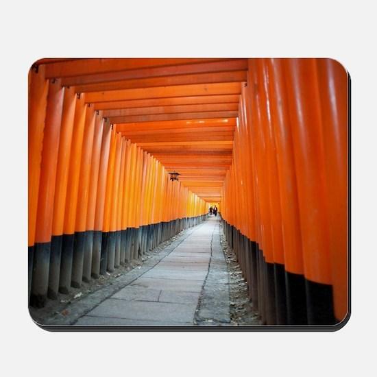 red torii gates kyoto Mousepad
