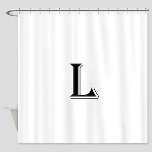Fancy Letter L Shower Curtain