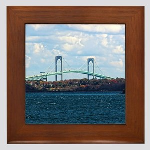 Newport/pell Bridge #1 Framed Tile