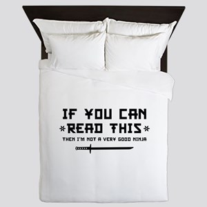 If You Can Read This Queen Duvet