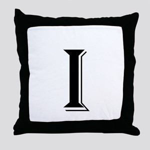 Fancy Letter I Throw Pillow