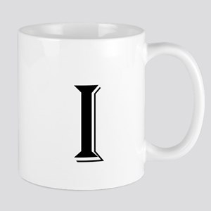 Fancy Letter I Mugs