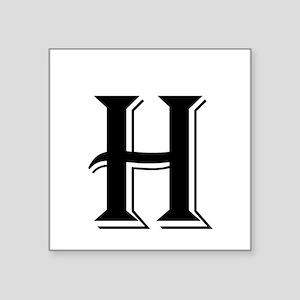 Fancy Letter H Sticker