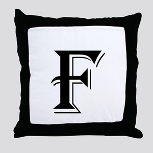 Fancy Letter F Throw Pillow