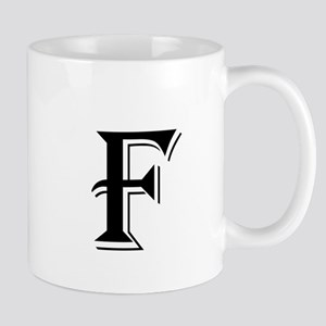 Fancy Letter F Mugs