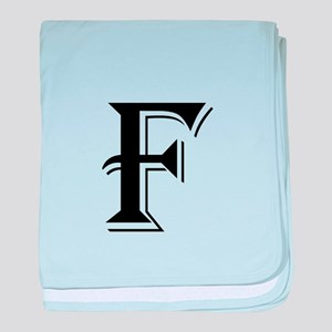 Fancy Letter F baby blanket