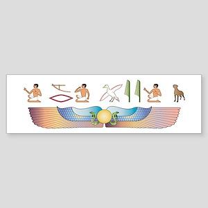 Ridgeback Hieroglyphs Bumper Sticker
