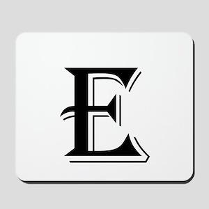 Fancy Letter E Mousepad