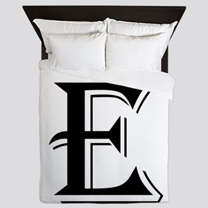 Fancy Letter E Queen Duvet