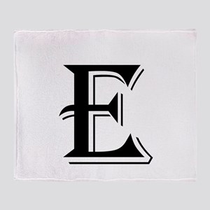 Fancy Letter E Throw Blanket