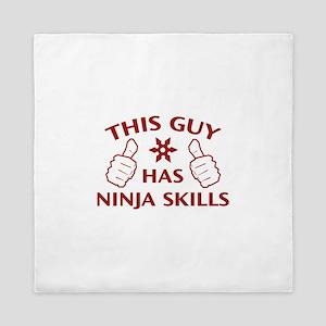 This Guy Has Ninja Skills Queen Duvet