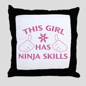 This Girl Has Ninja Skills Throw Pillow