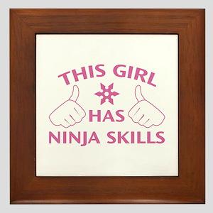 This Girl Has Ninja Skills Framed Tile