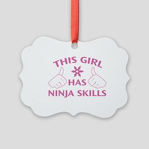 This Girl Has Ninja Skills Picture Ornament