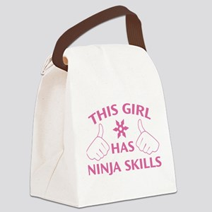 This Girl Has Ninja Skills Canvas Lunch Bag