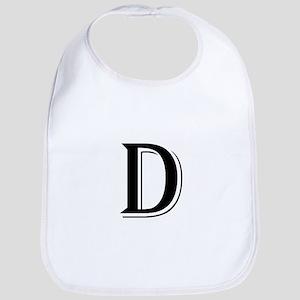 Fancy Letter D Bib