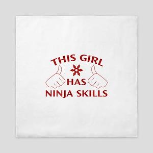 This Girl Has Ninja Skills Queen Duvet