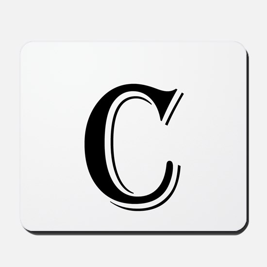 Fancy Letter C Mousepad