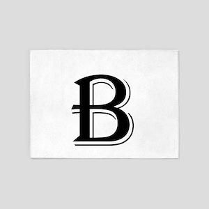 Fancy Letter B 5'x7'Area Rug