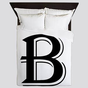 Fancy Letter B Queen Duvet